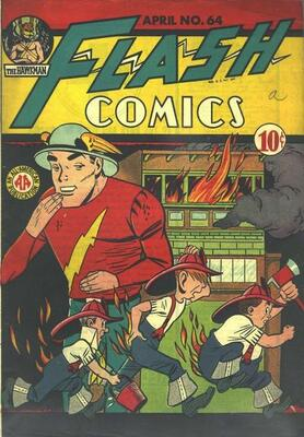 Origin and First Appearance, Monocle, Flash Comics #64, DC Comics, 1945. Click for value