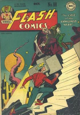Origin and First Appearance, Gentleman Ghost, Flash Comics #88, DC Comics, 1947. Click for value
