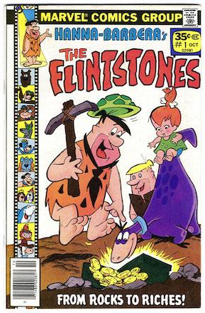 RARE! Flintstones #1 Marvel 35 Cent Price Variant