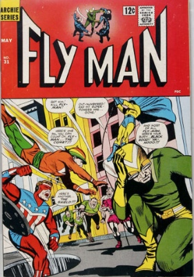 Origin and First Appearance, The Mighty Crusaders, Fly-Man #31, Archie Adventure Comics, 1964. Click for values