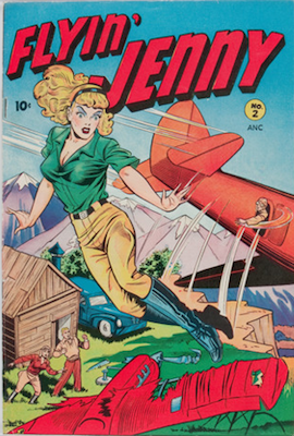 Flyin' Jenny #2: Matt Baker cover. Click for values