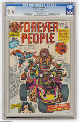 Look for a CGC 9.6 copy of Forever People #1. It should have white pages. Click to buy one