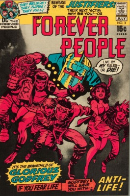 Origin and First Appearance, Glorious Godfrey, Forever People #3, DC Comics, 1971. Click for value