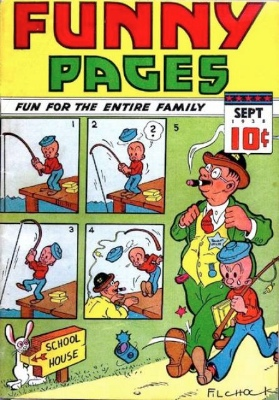 Origin and First Appearance, The Arrow Funny Pages #21. Click for values
