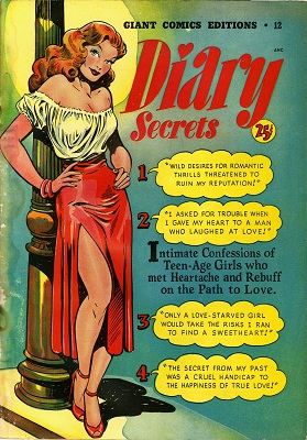 Giant Comics Edition #12: Diary Secrets. Provocative cover by Matt Baker. Click for value