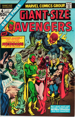 Giant-Size Avengers #4:Vision Marries Scarlet Witch. Click for values.