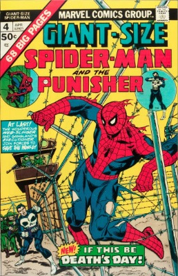 Giant Size Spider-Man #4 (Marvel, 1975): Third Punisher Comic; First Appearance of Moses Magnum. Click for values