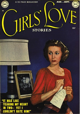 Girls' Love Stories #1: Very rare DC romance comic. Click for value