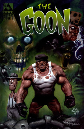 Goon #1 (1999): First full appearance of Zombie Priest, Joey the Ball, Franky and Goon. Click for value