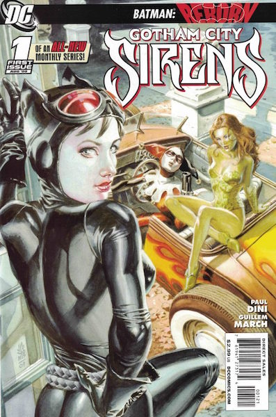 #56: Gotham City Sirens 1 Jones Variant (2009). Click for values