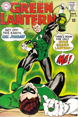DROPPED OUT OF THIS YEAR'S LIST: Green Lantern #59, 1st Guy Gardner