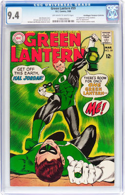 Green Lantern #59 has price compression at higher grade. A 9.4 costs almost the same as a 9.2! Click to get yours
