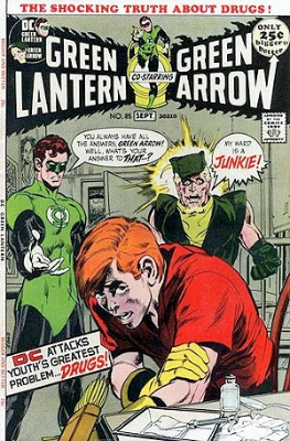 Green Lantern #85 (1971): Controversial Drug Abuse Story and Cover