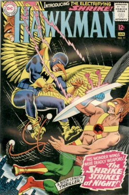 Origin and First Appearance, Shrike, Hawkman #11, DC Comics, 1966. Click for value