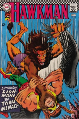 Origin and First Appearance, Lion Mane, Hawkman #20, DC Comics, 1967. Click for value