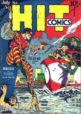 Hit Comics #1: First Appearance, The Red Bee. Click for values