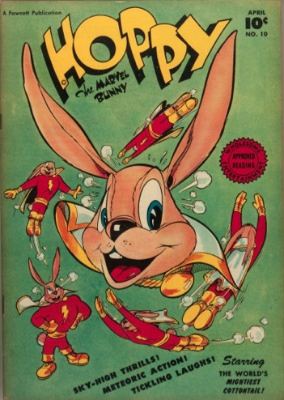 Hoppy the Marvel Bunny. Spinoff from Captain Marvel. Click for values