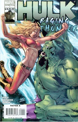 Origin and First Appearance, She-Hulk (Lyra), Hulk: Raging Thunder #1, Marvel Comics, 2008. Click for value