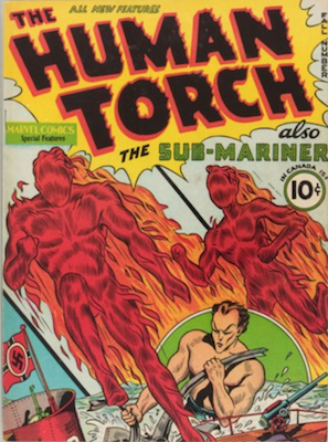 Human Torch Comics #2 (Fall 1940): First Solo Comic. Click for values