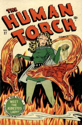Human Torch by Timely Comics. Click for values