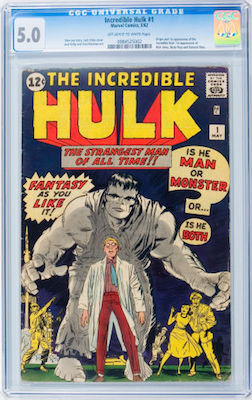 It's obvious to say invest in the best you can afford with an Incredible Hulk #1. CGC 5.0 is very expensive, but it looks like a good bet for future returns. Click to buy