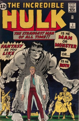 Origin and First Appearance, the Hulk, Incredible Hulk #1, Marvel Comics, 1962. Click for value