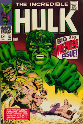 Incredible Hulk #102 is a key issue. Click for values