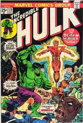 Incredible Hulk #178; Rebirth of Warlock. Click for values.