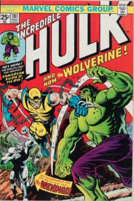 Top 20 Hot Comics #20: Incredible Hulk #181, First Appearance of Wolverine. One of the hottest comics around! Click for value