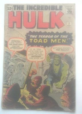 Incredible Hulk #2 1962 Value?