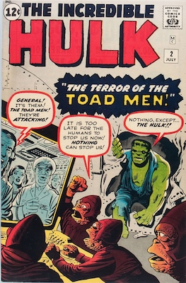 Incredible Hulk #2 (1962). First green-skinned Hulk appearance