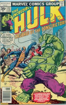 Incredible Hulk #212 35c Price Variant