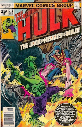 Incredible Hulk #214 Marvel 35 Cent Price Variants