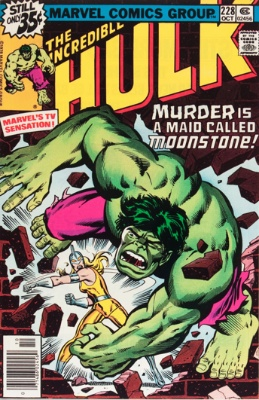 Origin and First Appearance, Moonstone, Incredible Hulk #228, Marvel Comics, 1978. Click for value