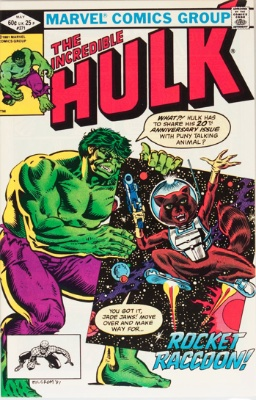 Incredible Hulk #271 (1981): 1st Appearance of Rocket Raccoon in comics continuity. Click for value