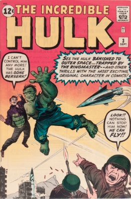 Origin and First Appearance, Ringmaster, Incredible Hulk #3, Marvel Comics, 1962. Click for value