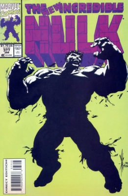 Incredible Hulk #377 (1991): Rare Third Printing. Click for values