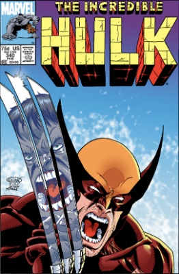 Incredible Hulk #340 is a Macfarlane Wolverine comic, and a minor key issue. The artistic difference between this and the original Wolverine from #180-181 is stunning. Click for values