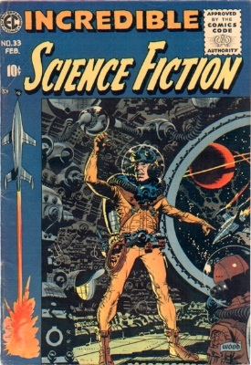 The controversial Incredible Science Fiction #33 which led to censorship of EC Comics. Click for values
