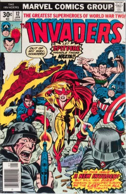 Origin and First Appearance, Spitfire, Invaders #12, December, 1976. Click for value