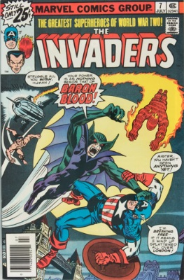 Invaders #7, 1st Union Jack and Baron Blood. Click for values