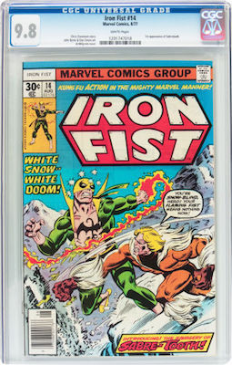 Iron Fist #14 is too common to buy in any grade below CGC 9.8. Insist on white pages and good centering. Click to buy