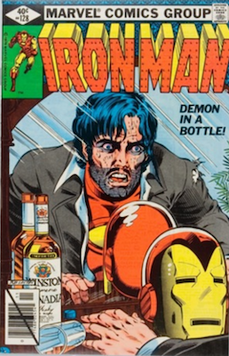 Iron Man #128, Tony Stark Alcoholism Story. Click for values