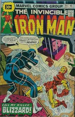 Iron Man #86 30c Price Variant Edition May, 1976. Starburst Price