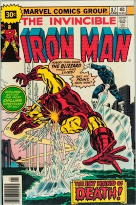 Iron Man #87 30 Cent Variant June, 1976. Price in Starburst