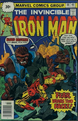 Iron Man #88 30c Price Variant July, 1976. Starburst Flash