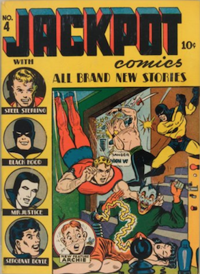 Jackpot Comics #4: First Archie's face on cover. Click for values
