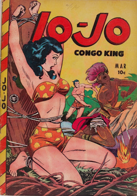 Jo-Jo Comics #25: Matt Baker bondage cover. Click for values