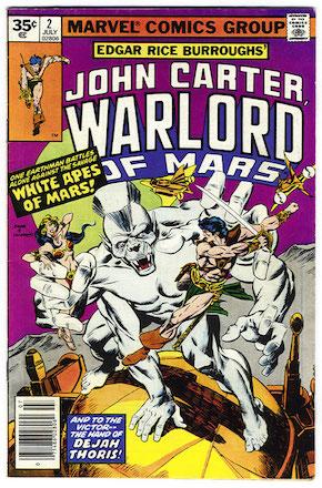 John Carter Warlord of Mars #2 Marvel 35 Cent Price Variants