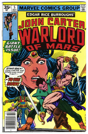 John Carter Warlord of Mars #5 Marvel 35 Cent Price Variant